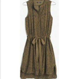Madewell Leopard Silk Playa Dress XS